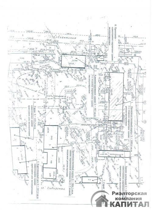 производственно-складские  помещения с  земельным участком 15 га схема